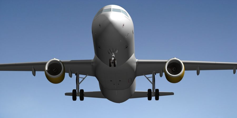 AIRBUS A320 VUELING royalty-free 3d model - Preview no. 8