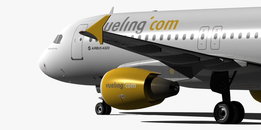 AIRBUS A320 VUELING royalty-free 3d model - Preview no. 12