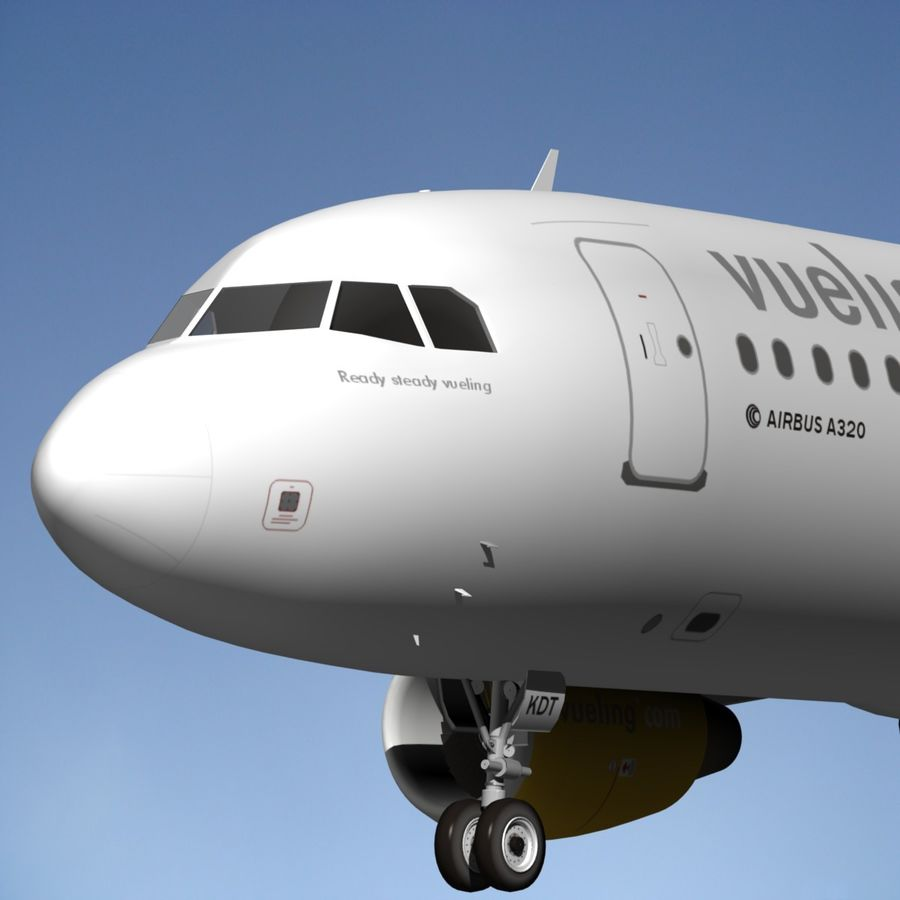 AIRBUS A320 VUELING royalty-free 3d model - Preview no. 14