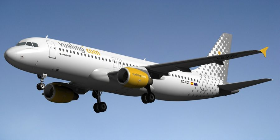 AIRBUS A320 VUELING royalty-free 3d model - Preview no. 2