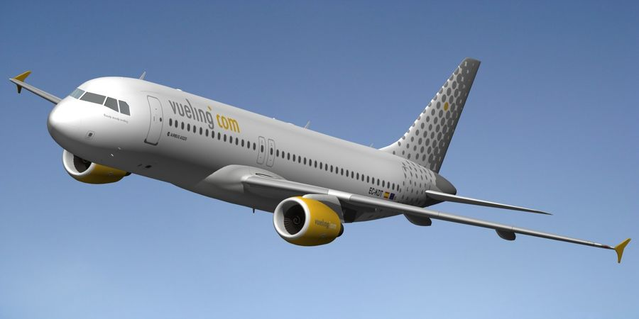 AIRBUS A320 VUELING royalty-free 3d model - Preview no. 10