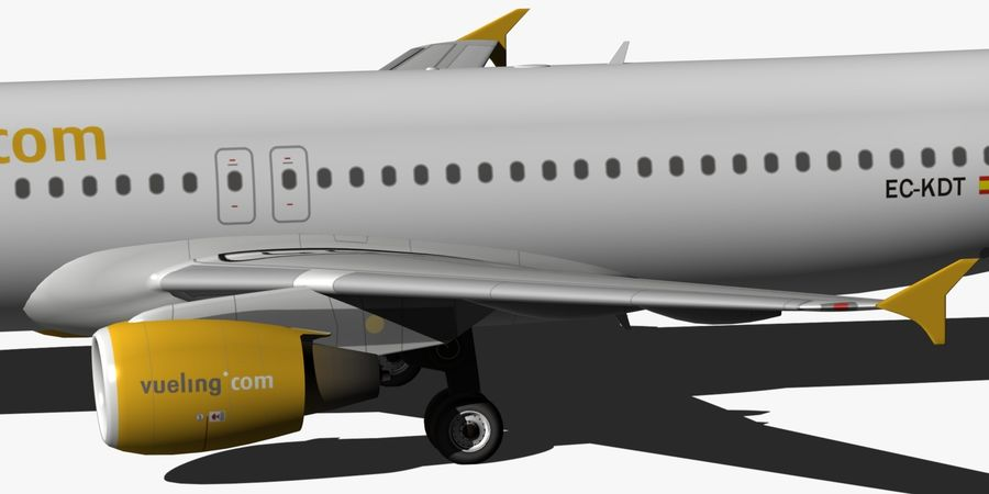 AIRBUS A320 VUELING royalty-free 3d model - Preview no. 15