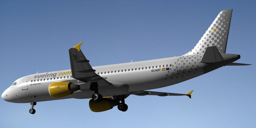 AIRBUS A320 VUELING royalty-free 3d model - Preview no. 5