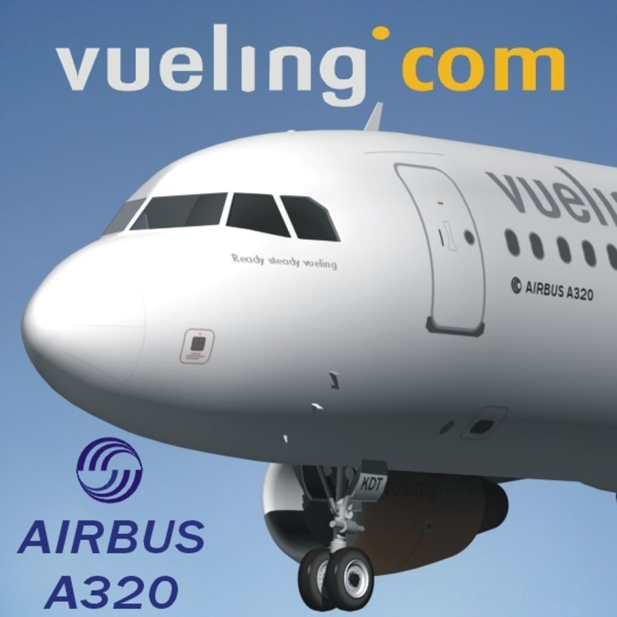AIRBUS A320 VUELING royalty-free 3d model - Preview no. 1