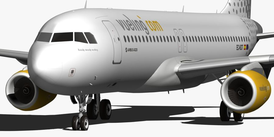 AIRBUS A320 VUELING royalty-free 3d model - Preview no. 13