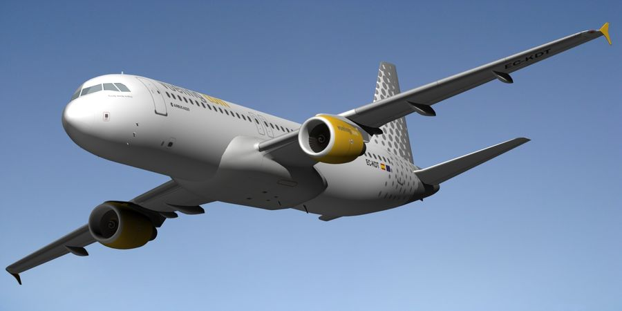 AIRBUS A320 VUELING royalty-free 3d model - Preview no. 11