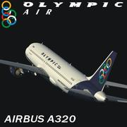 Airbus a320 ar olímpico 3d model