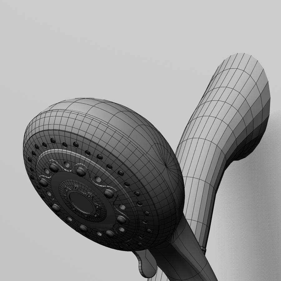 Shower royalty-free 3d model - Preview no. 6