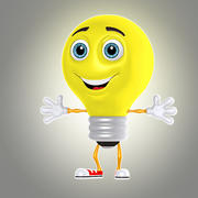 cartoon bulb 1 3d model