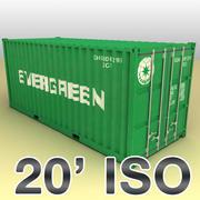 Conteneur d'expédition ISO 20 pieds 3d model