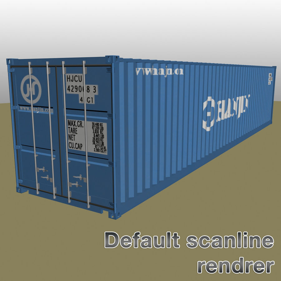 ISO shipping container 40 feet 3D Model $33 -  max - Free3D