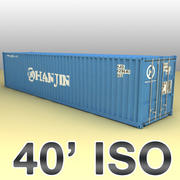ISO shipping container 40 feet 3d model
