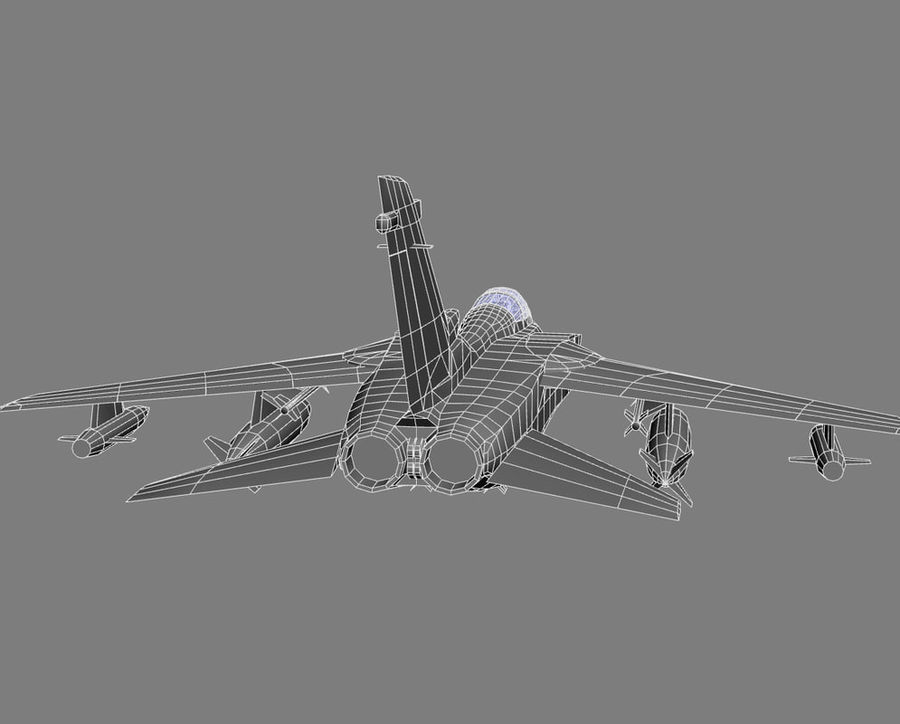 Tornado GR4 Jet Fighter Game model 3D Model $45 -  max  obj