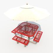 Mesa de pátio 3d model