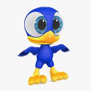 Kreskówka ptak 3d model