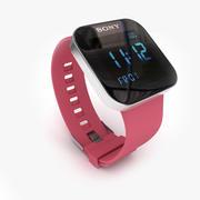 Sony Smartwatch rosa 3d model