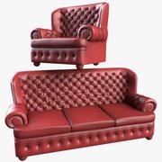 Chesterfield meubels 3d model