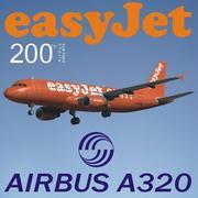 Airbus a-320 easyjet modelo 3d