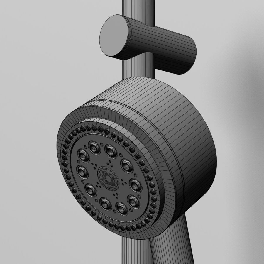 Shower royalty-free 3d model - Preview no. 5