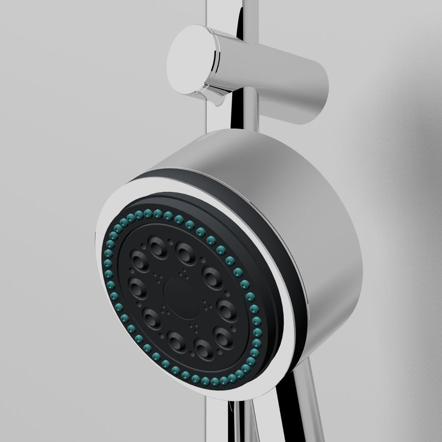 Shower royalty-free 3d model - Preview no. 4