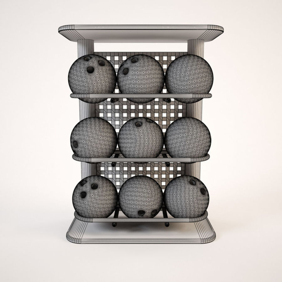 Bowling Stand royalty-free 3d model - Preview no. 4