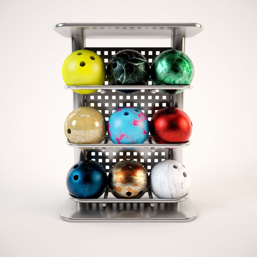 Bowling Stand royalty-free 3d model - Preview no. 3