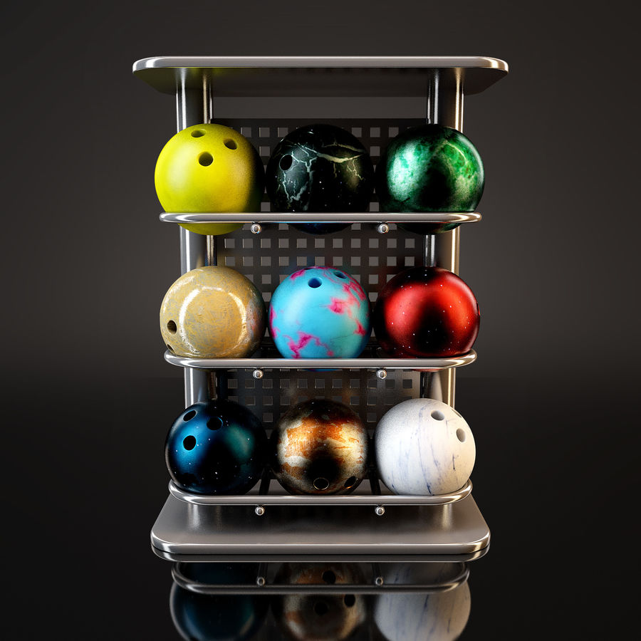 Bowling Stand royalty-free 3d model - Preview no. 2