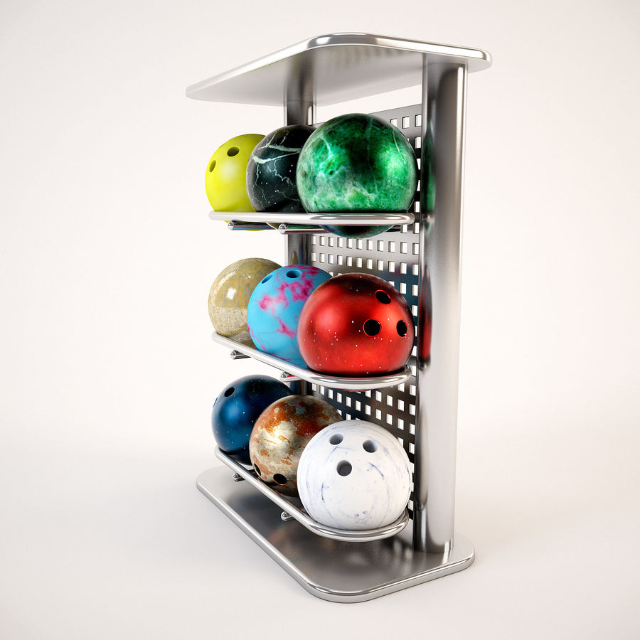 Bowling Stand royalty-free 3d model - Preview no. 5