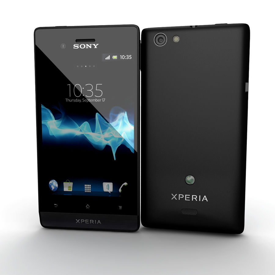 Sony Xperia Miro Smartphone royalty-free 3d model - Preview no. 1
