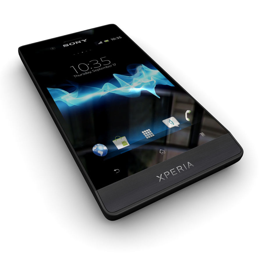 Sony Xperia Miro Smartphone royalty-free 3d model - Preview no. 3