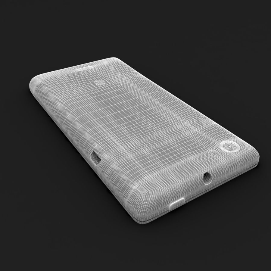 Sony Xperia Miro Smartphone royalty-free 3d model - Preview no. 8