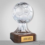 Crystal Soccer Award Trophy 3d model