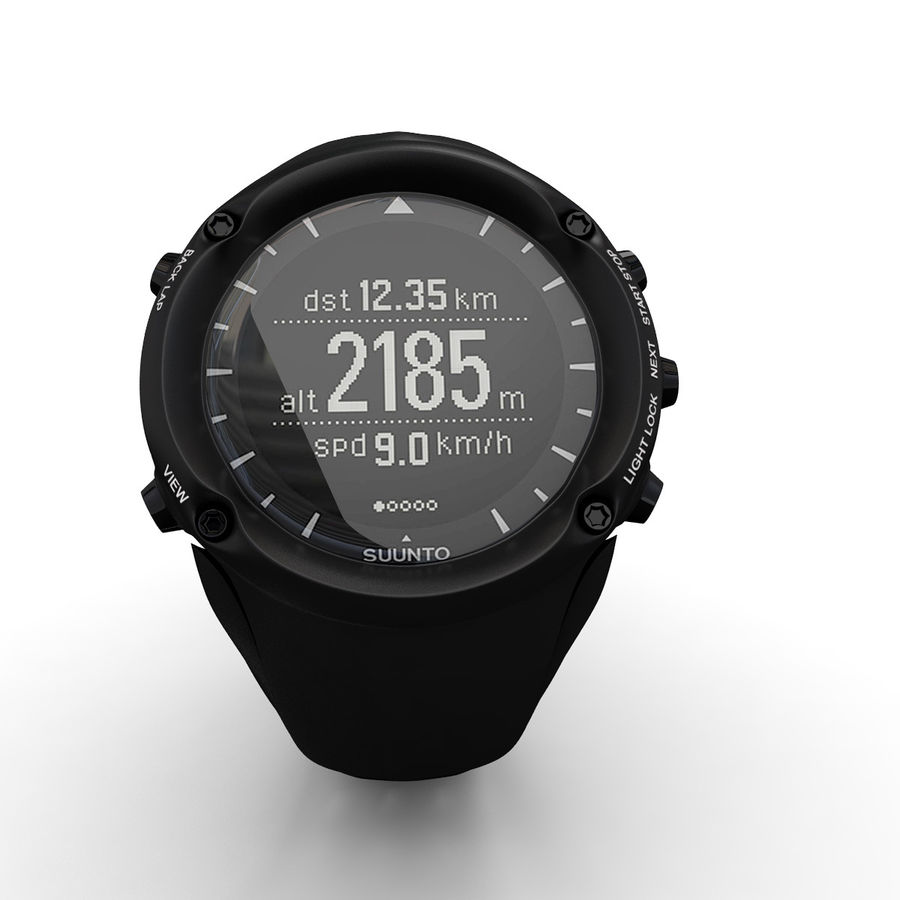 Suunto Ambit Watches royalty-free 3d model - Preview no. 5