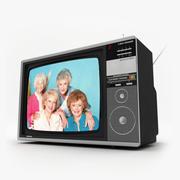 复古电视东芝 3d model