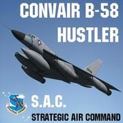 康维尔B58骗子 3d model