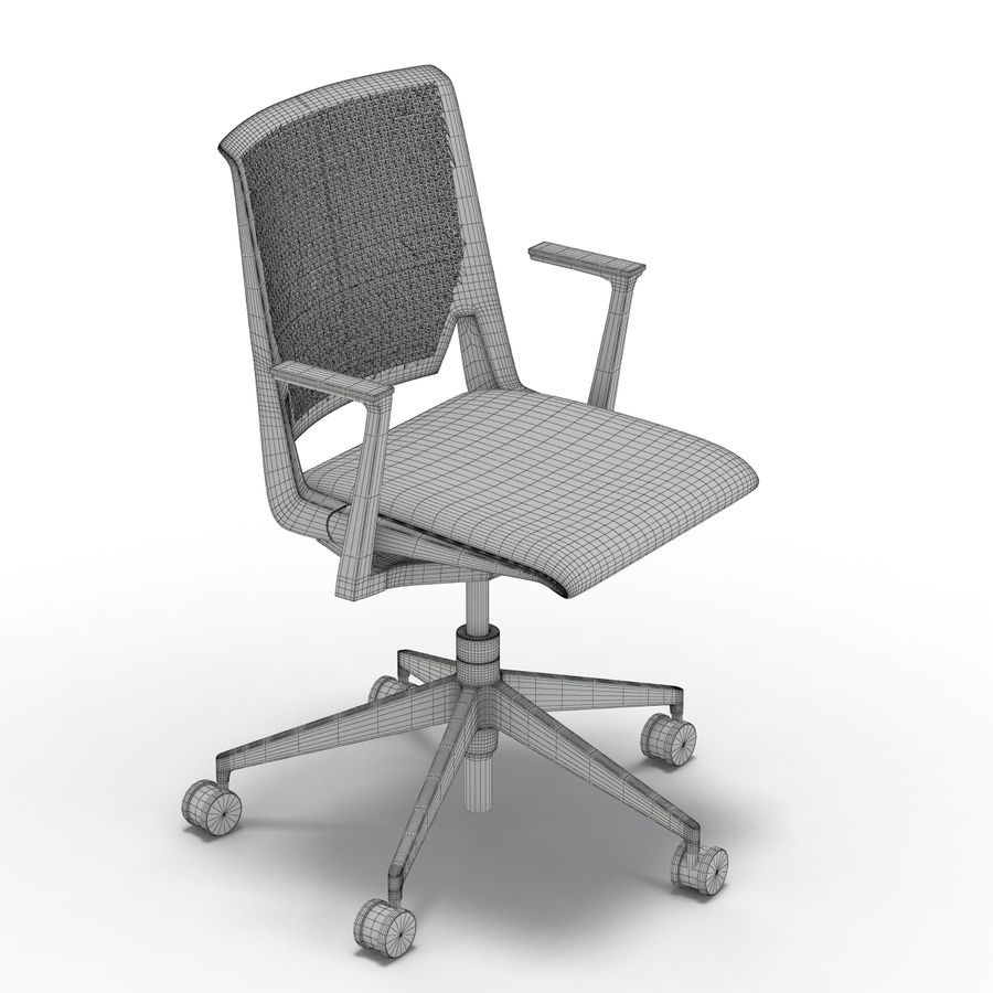 Crate and Barrel - Haworth Very White Office Chair royalty-free 3d model - Preview  sc 1 st  Free3D.com & Crate and Barrel - Haworth Very White Office Chair Modello 3D $29 ...