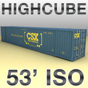 ISO shipping container 3d model