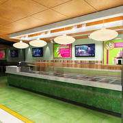 Yogurt Bar da 16 manici 3d model