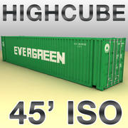 ISO shipping container 45 feet highcube 3d model