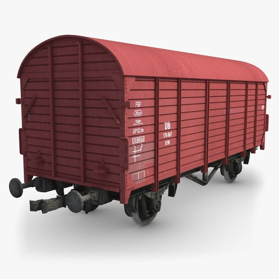 Cargo Wagon 7 royalty-free 3d model - Preview no. 1