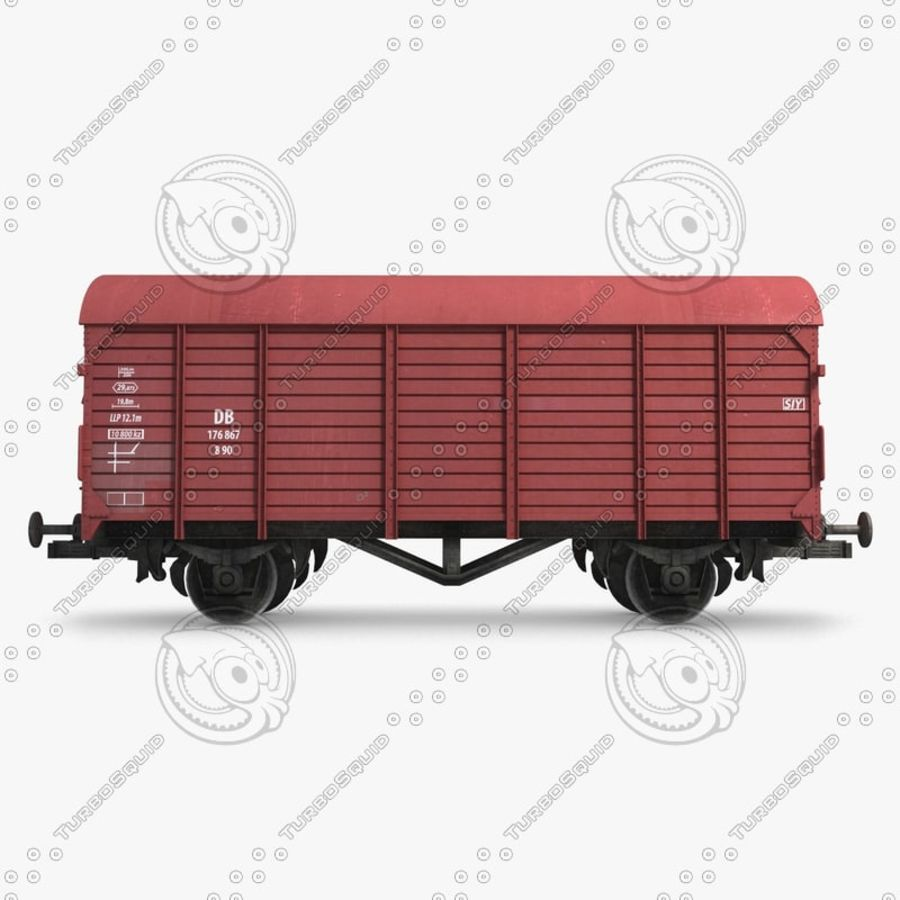 Cargo Wagon 7 royalty-free 3d model - Preview no. 3