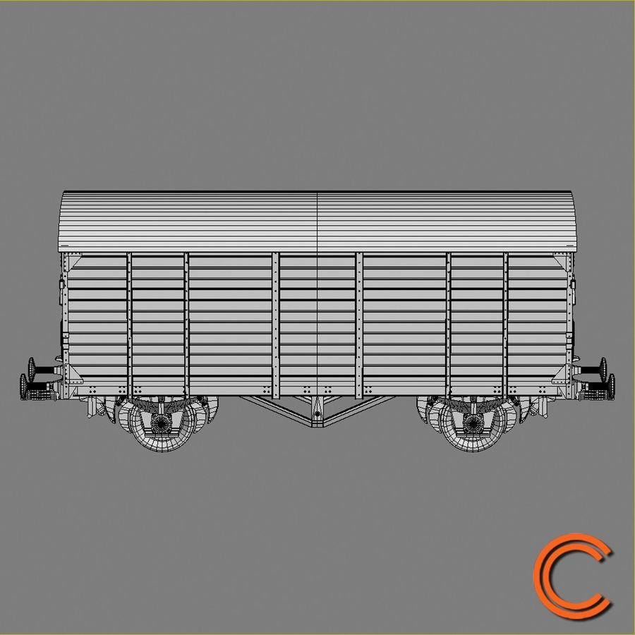 Cargo Wagon 7 royalty-free 3d model - Preview no. 6
