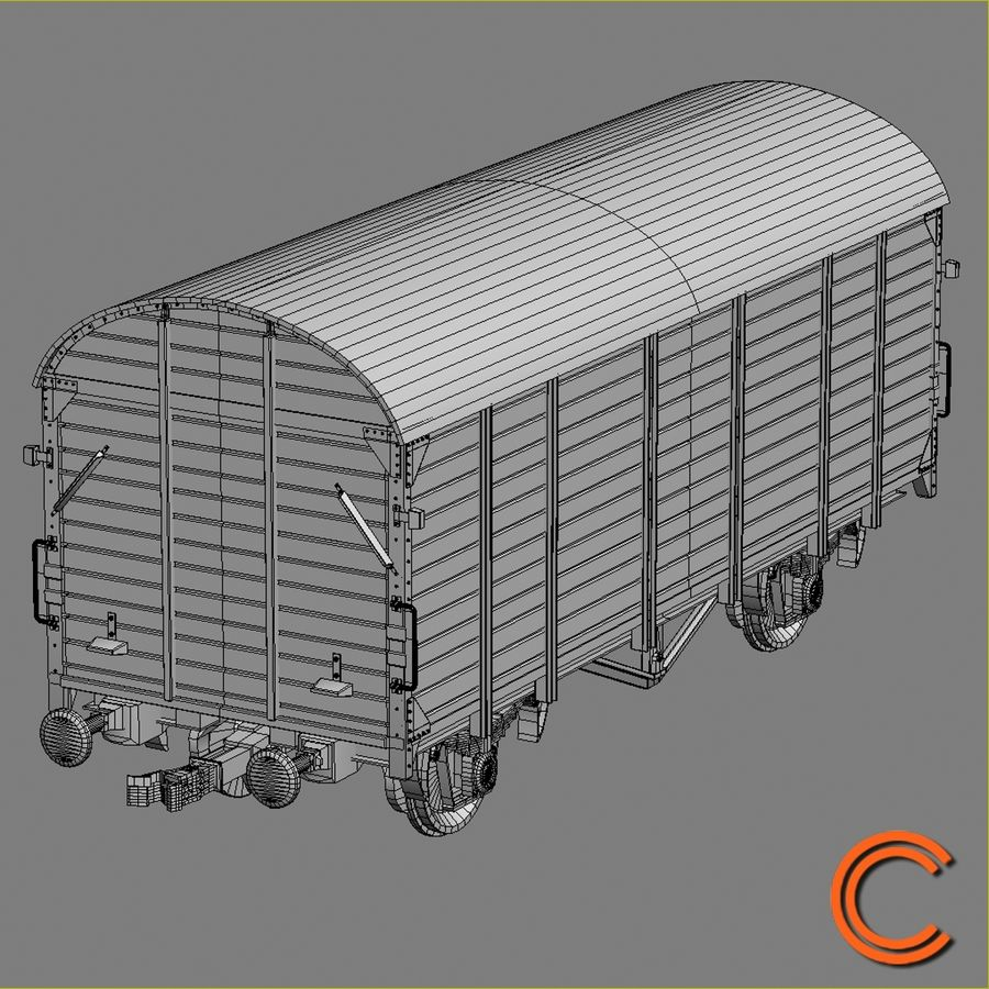 Cargo Wagon 7 royalty-free 3d model - Preview no. 7