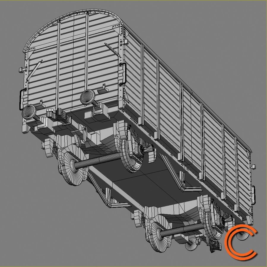 Cargo Wagon 7 royalty-free 3d model - Preview no. 8