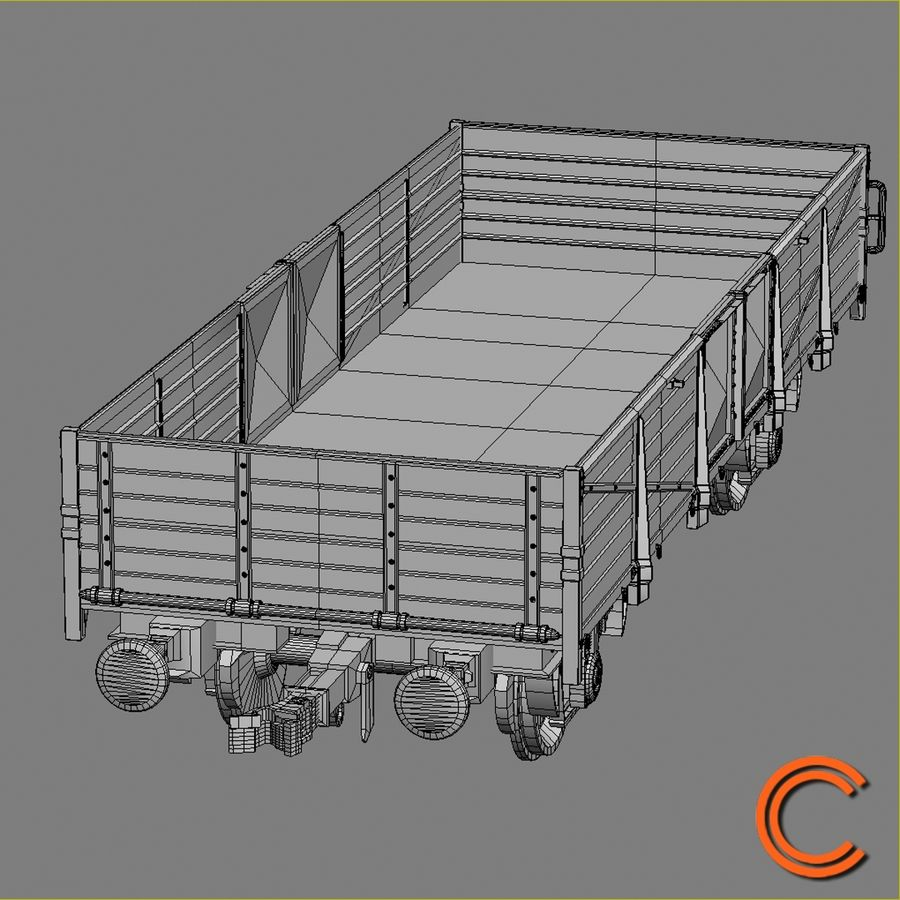 Cargo Wagon 6 royalty-free 3d model - Preview no. 8