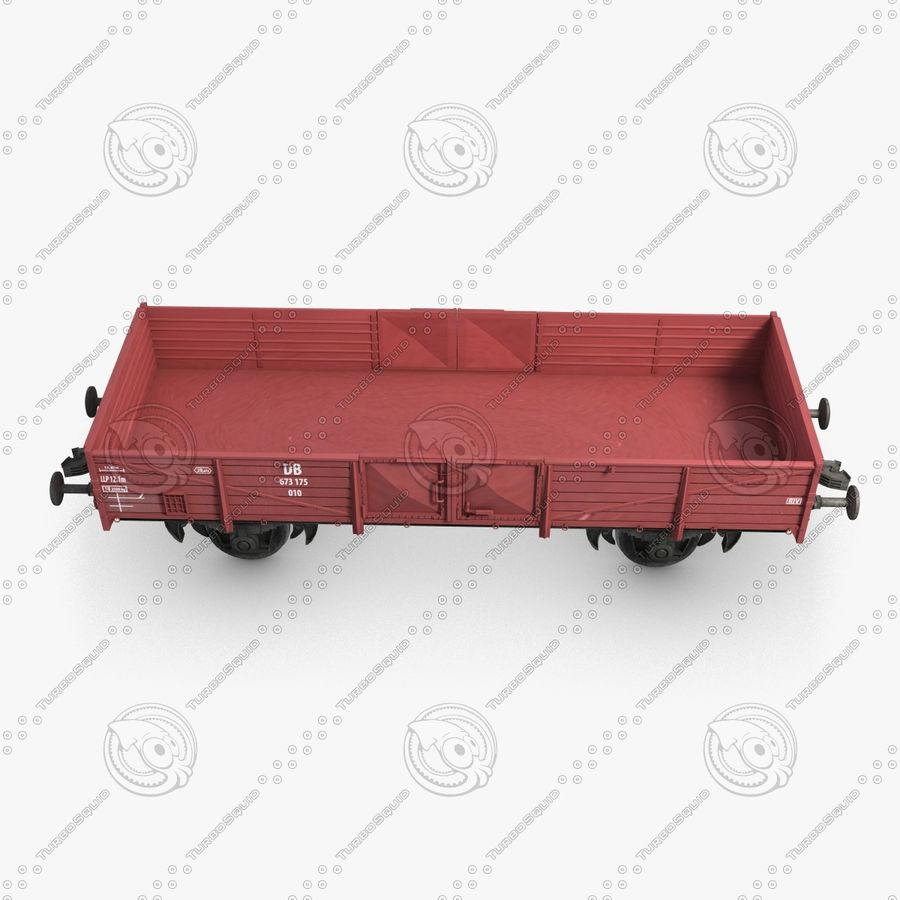 Cargo Wagon 6 royalty-free 3d model - Preview no. 5