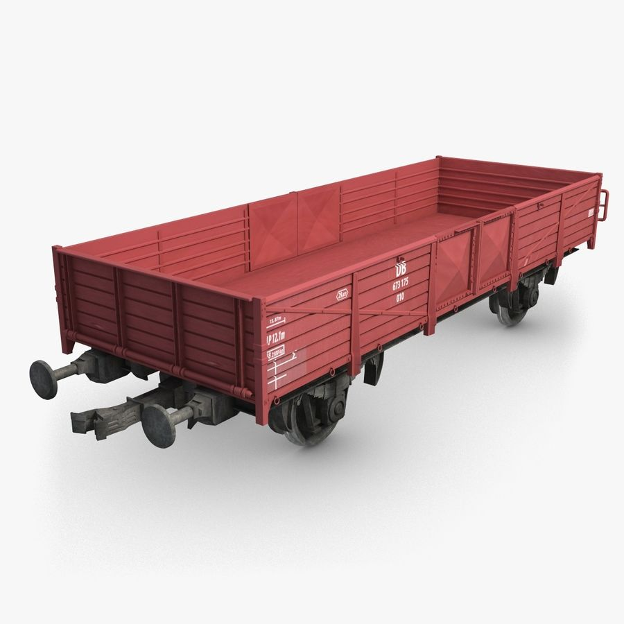Cargo Wagon 6 royalty-free 3d model - Preview no. 1