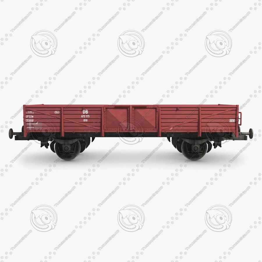 Cargo Wagon 6 royalty-free 3d model - Preview no. 3