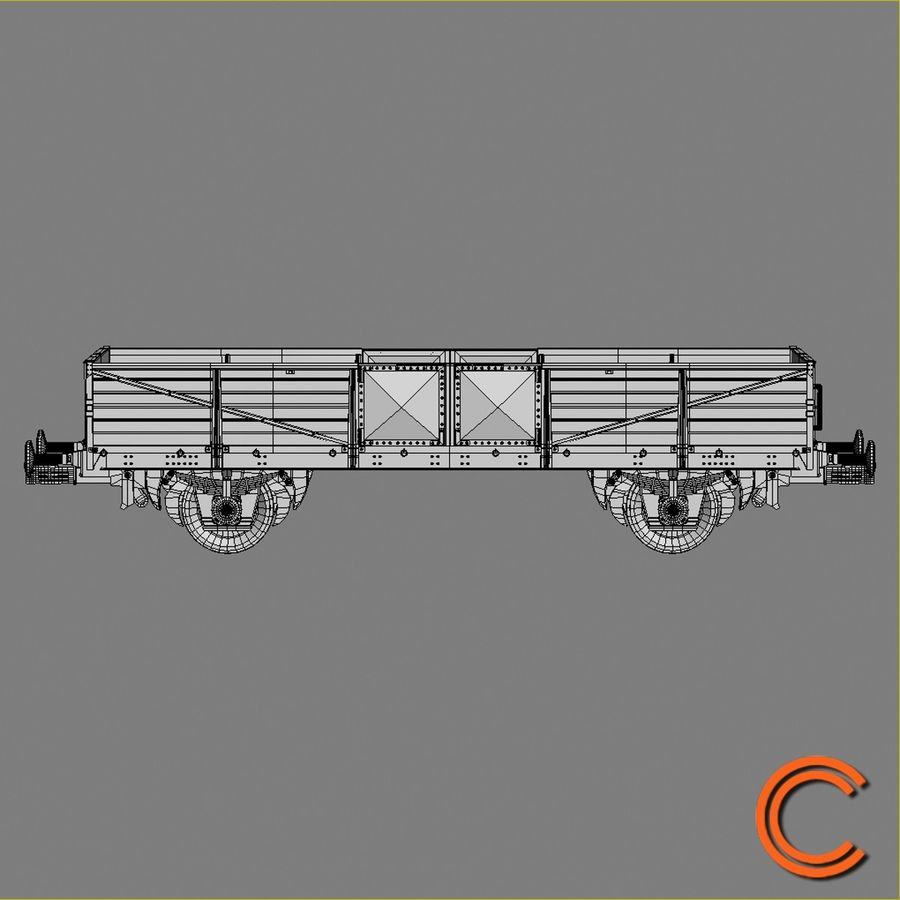 Cargo Wagon 6 royalty-free 3d model - Preview no. 7