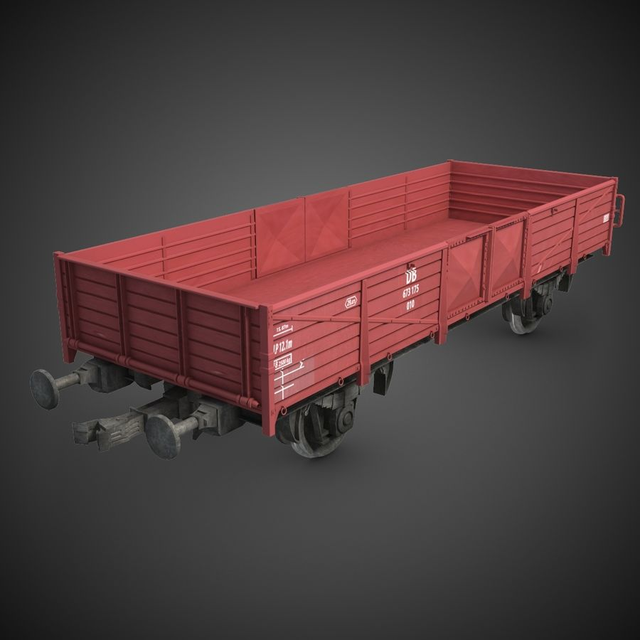 Cargo Wagon 6 royalty-free 3d model - Preview no. 2